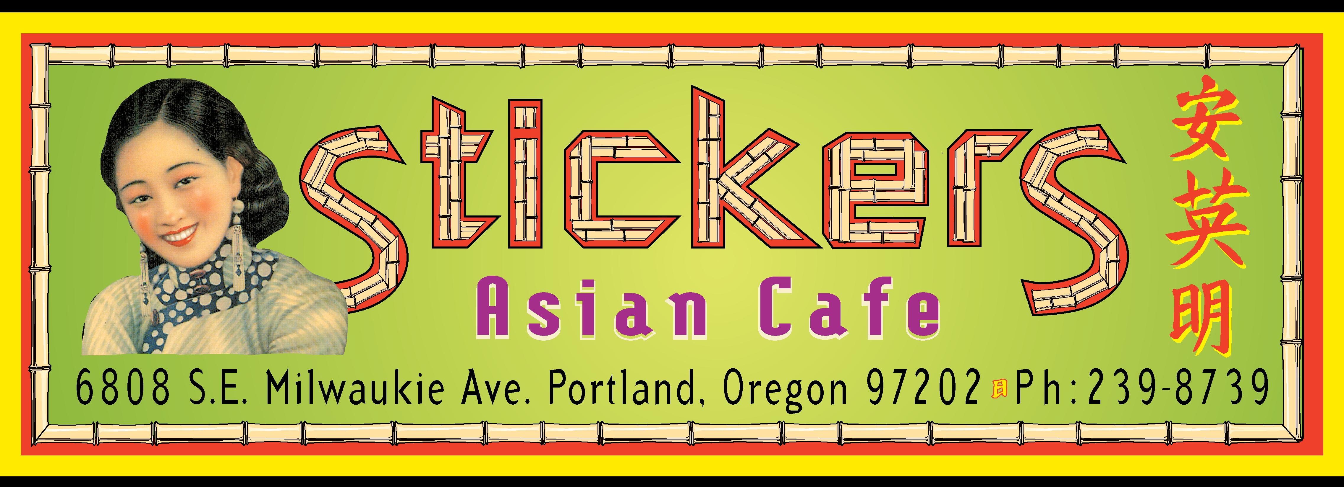 Stickers Asian Cafe Menu